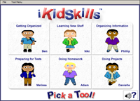 Screenshot of iKidSkills